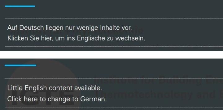 Darstellung der Zweisprachennavigation im Hamburger-Menü