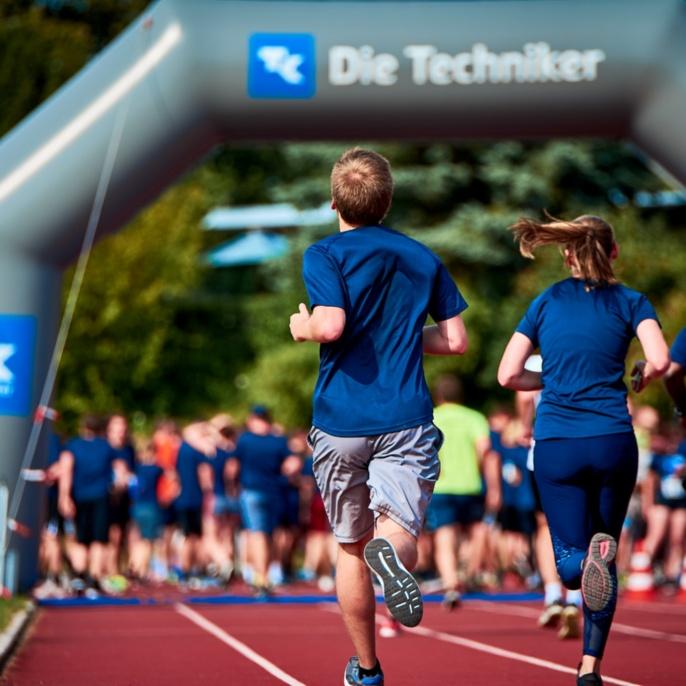 Zieleinlauf beim Campus Run