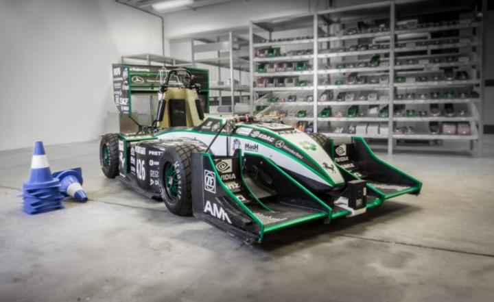 Das Driverless-Fahrzeug basiert auf dem E-Rennwagen aus der jeweils vergangenen Saison. (c) GreenTeam
