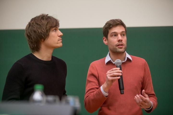 Preisträger Moritz Dörstelmann (links) und James Solly (Fakultät 1) (c)