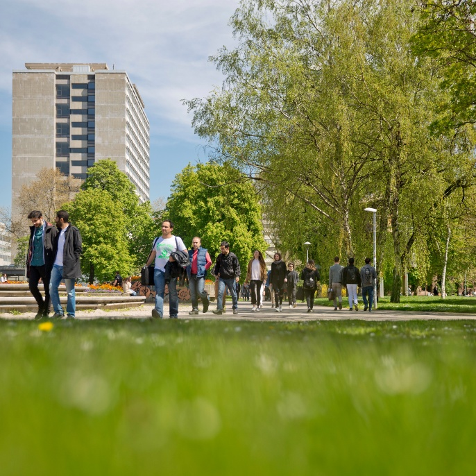 Der Campus der Universität Stuttgart in der Stadtmitte