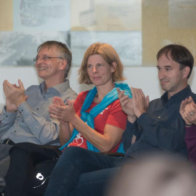 Vertrauensdozenten der Uni Stuttgart (v. li.): Prof. Bernhard Weigand, Prof. Miriam Mehl, Prof. Stephan ten Brink, Prof. Sibylle Baumbach