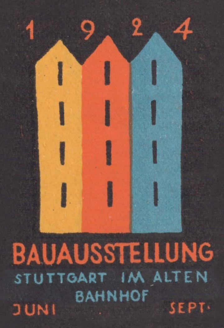 Plakat der Bauausstellung Stuttgart 1924. (c)