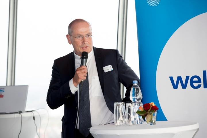 Dr. Walter Rogg, Geschäftsführer der Wirtschaftsförderung Region Stuttgart (WRS), die den Abend mitveranstaltete. (c) Rudel