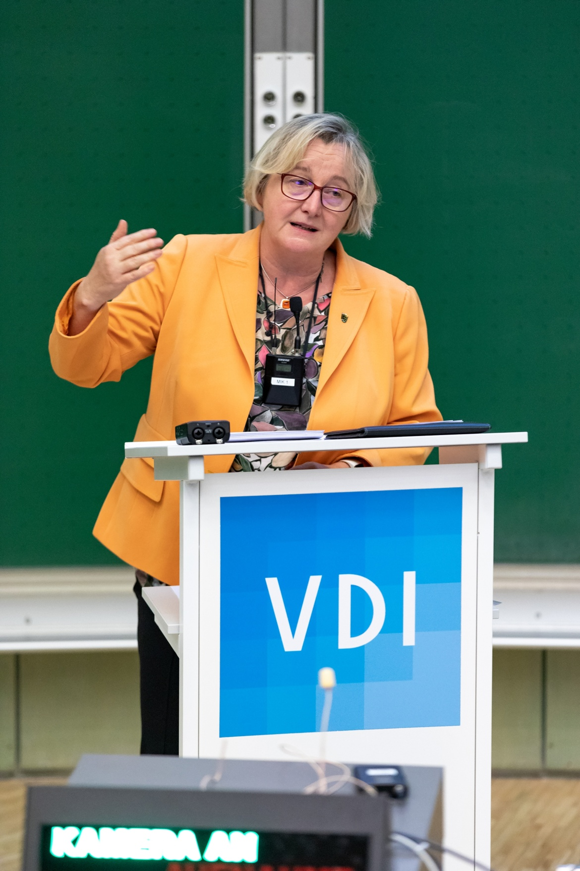 """""""Um schnelleren Veränderungen bewältigen zu können, brauchen wir die Ingenieure"""", betonteTheresia Bauer, Ministerin für Wissenschaft, Forschung und Kunst Baden-Württemberg. (c) VDI"""