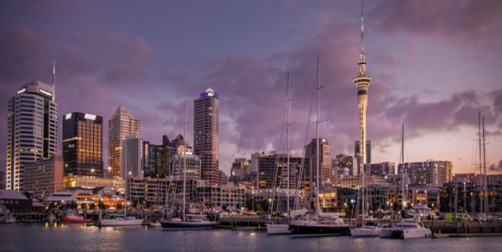 Die Skyline von Auckland, Neuseeland. (c) Thiranja Babarenda Gamage