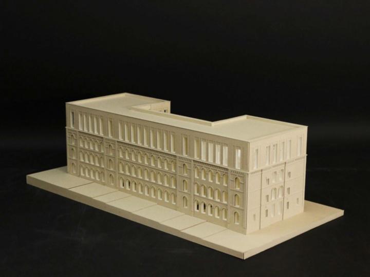 Der Entwurf von Maren Sänger und Sarah Jansen greift viele Elemente des Altbaus auf. (c) Institut für öffentliche Bauten und Entwerfen