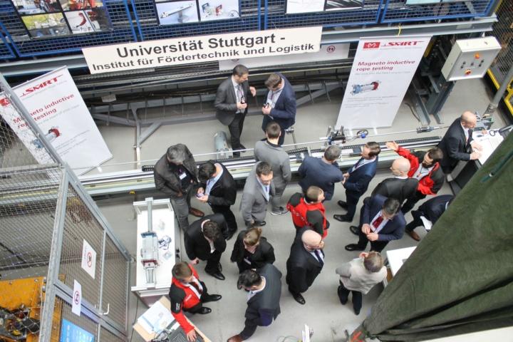 Die Besichtigung der Prüfstände am IFT gehörte zu den Höhepunkten der Stuttgarter Seiltage. (c) IFT