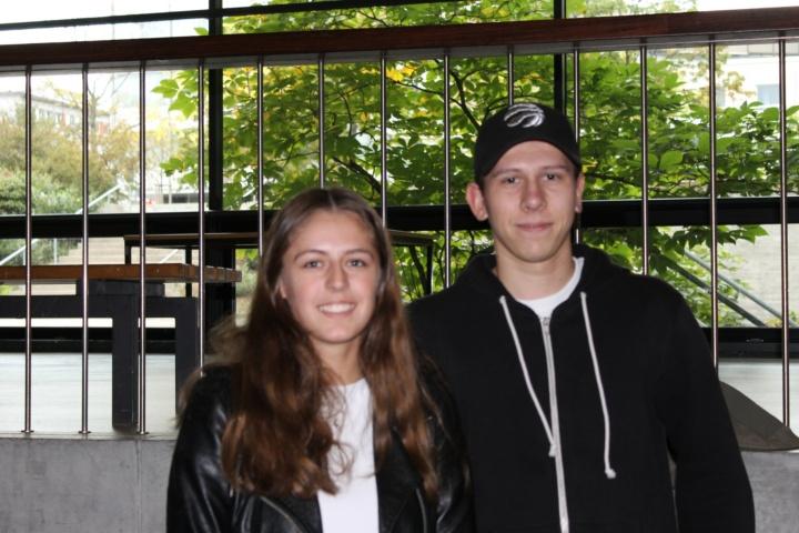 Ab dem Wintersemester studieren Zoje und Nico Technologiemanagement. Zur Zeit besuchen sie den Mathematik-Vorkurs des MINT-Kollegs.   (c)