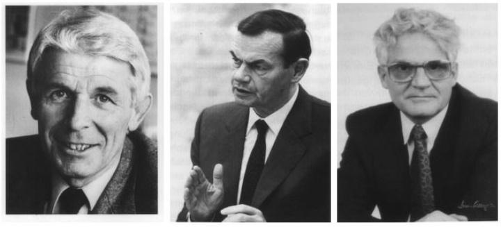 Prof. Dr. Franz Effenberger, Dr. Marcus Bierich, Prof. Jürgen Giesecke