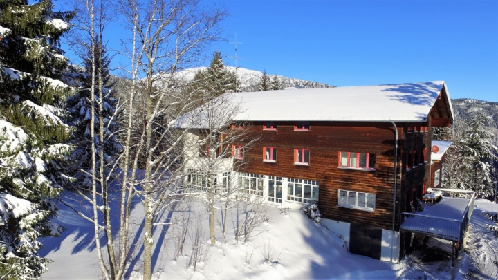 Das Söllerhaus-Kleinwalsertal im Winter.