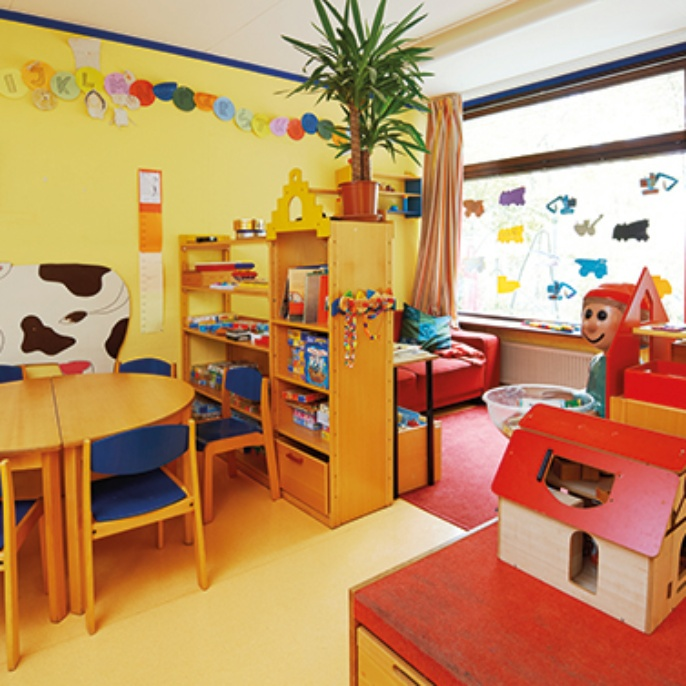 Der Gruppenraum des Kinderhauses Unikids.