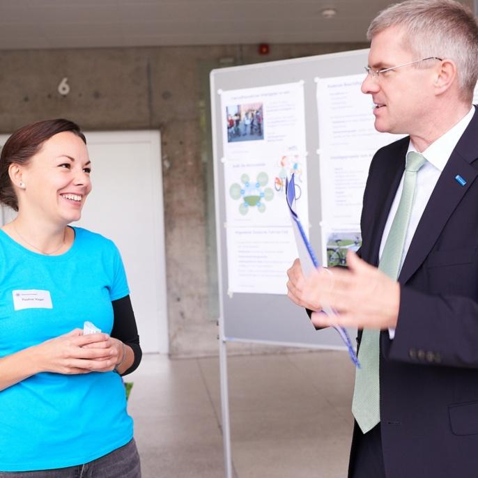Die Besucherinnen und Besucher erhielten viele Infos zu unterschiedlichen Gesundheitsthemen.