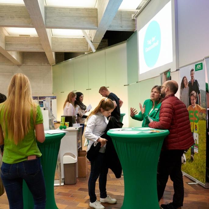 Informationen rund um das Thema Gesundheit und das Kennenlernen neuer Sportarten und Entspannungstechniken standen auf dem Programm.