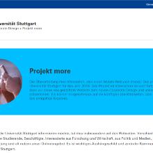 Screenshot Test-Website im neuen Webdesign