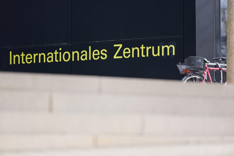 Treppenaufgang zum Internationalen Zentrum